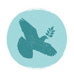 dove peace logo design pigeon silhouette vector image
