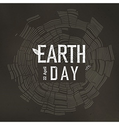 Earth Day Poster Tree rings and Earth Day logo vector image
