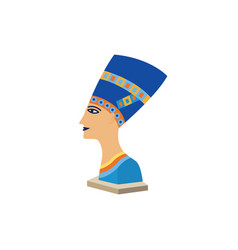 egyptian queen nefertiti a famous ancient egyptian vector image