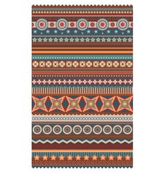 Ethnic various strips motifs in different color vector