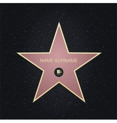 Fame star with place for nameTop view vector