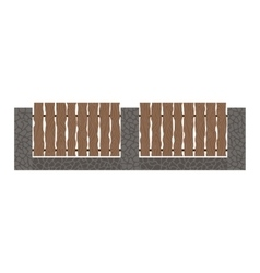 Fence isolated vector image