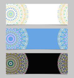 Geometrical horizontal abstract flower mandala vector