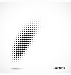 halftone curved gradient texture curve smears vector image