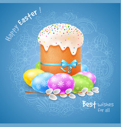 Happy easter celebration vector