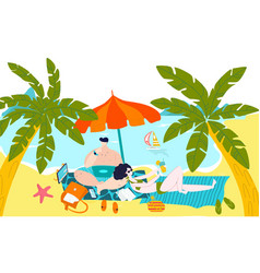 Hot tour to sea exotic islands travel for family vector