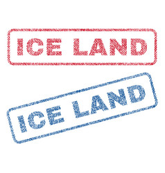 ice land textile stamps vector image