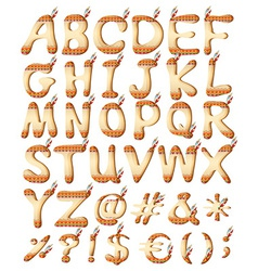 Indian style letters of the alphabet vector image