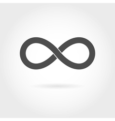 Infinity icon Simple mathematical sign Isolated vector image
