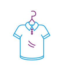 line shopping clothes in the market with style vector image