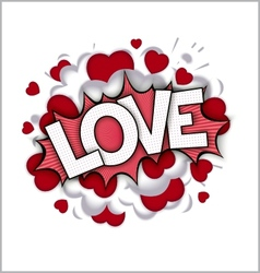 Love speech bubble vector