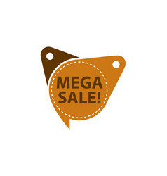 mega sale tag template isolated vector image