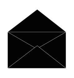 Open mail symbol vector