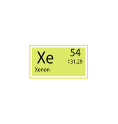 Periodic table element xenon icon element of vector