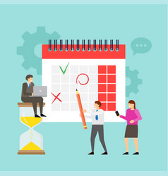 planning and work process organization vector image