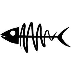 primitive fish skeleton vector image