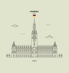 rathaus in hamburg vector image