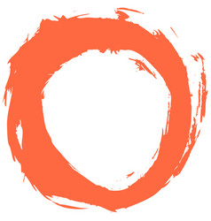 Red brushstroke circular shape vector