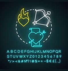 romance literature neon light concept icon vector image