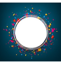 Round festive blue background vector
