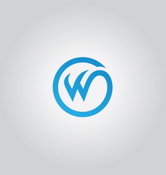 round letter w logo vector image