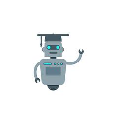 school robot logo icon design vector image