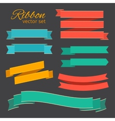 set of business ribbons vintage style for design vector image