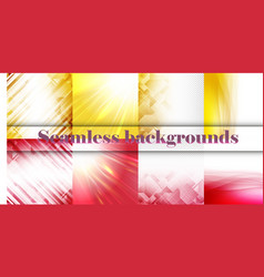 Set of seamless with large and small lines and vector