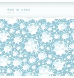 shiny diamonds horizontal torn frame seamless vector image