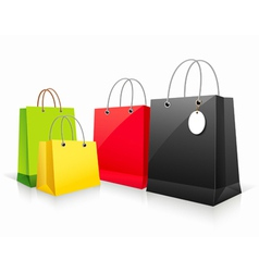 Shopping colorful paper bag vector