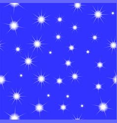 Starry blue sky seamless pattern vector