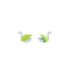 swan logo icon vector image