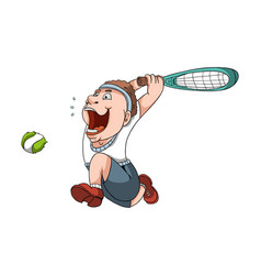 Tennis player cartoon vector