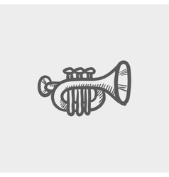 Trumpet sketch icon vector image
