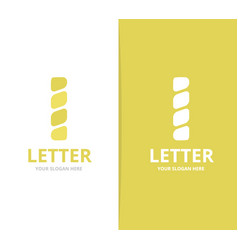 Unique letter i logo design template vector
