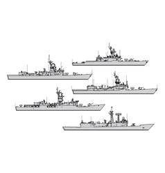 us frigates vector image