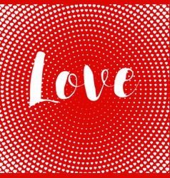 Valentines day card love text design heart card vector