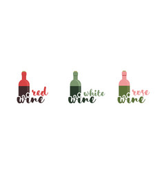 Wine text typography calligraphic text vector