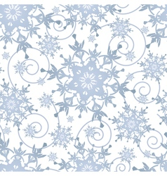 Winter festive seamless pattern with snowflakes vector image