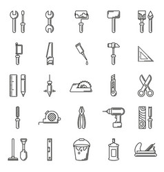 working tools icon set on white background vector image