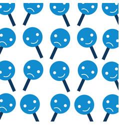 customer service emoji sad placard vector image