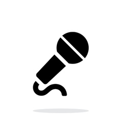 Microphone with cable icon on white background vector image