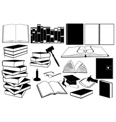 study books vector image vector image