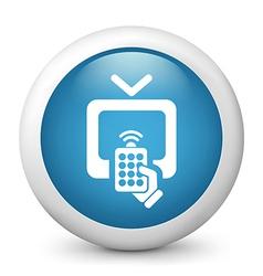 Television Remote Icon vector image