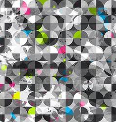 grunge circles seamless pattern vector image