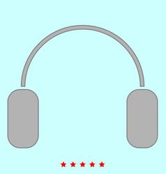 headphone it is icon vector image