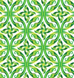 leaves in circle seamless pattern vector image vector image