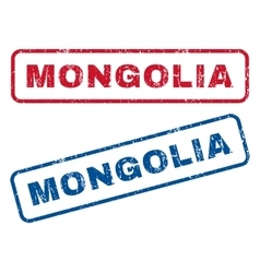 Mongolia rubber stamps vector