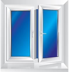 Plastic window ajar vector