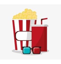 Pop corn cinema and movie design vector image